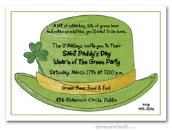 st patricks day invitations irish derby