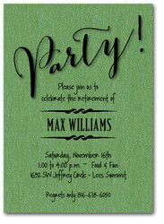 Party on Shimmery Green Invitations