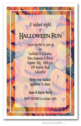 Jack o' Lantern Patch Halloween Invites