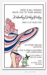 Pretty Derby Day Lady Party Invitations