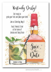 Bourbon Kentucky Derby Save the Date Cards