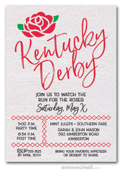 Kentucky Derby Script Party Invitations