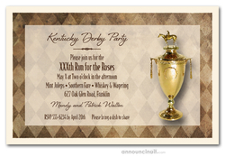 Kentucky Derby Trophy Party Invitations
