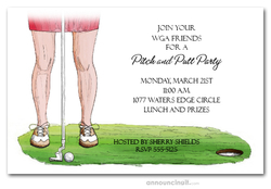 Lady's Golf Day Invitations
