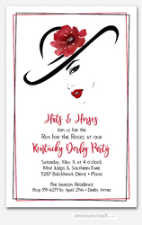 Large Hat Lady's Silhouette Party Invitations