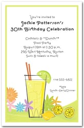 Lemonade Glass Party Invitations