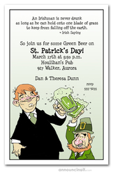 Leprechaun Cheers St. Patrick's Day Invitations