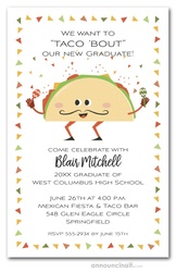Taco Bout Fiesta Graduation Party Invitations