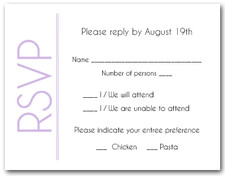 Lilac on White RSVP Cards #6