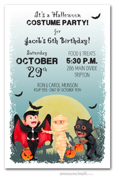 Little Trick or Treaters Halloween Invitations