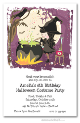Little Witch's Brew Halloween Invitations