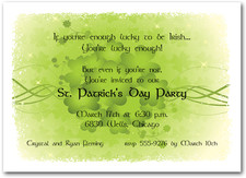 st patricks day invitations lucky clovers