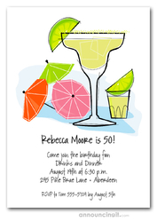 Margarita and Drink Umbrella Invitations