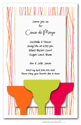 Bright Margaritas Party Invitations