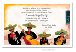 Mariachi Band Party Invitations