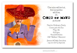 Mariachi Solo Party Invitations