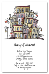 Moving Uptown Change of Address Cards