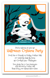 Mummy DJ Halloween Party Invitations