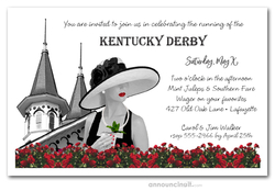 Noir Kentucky Derby Invitations