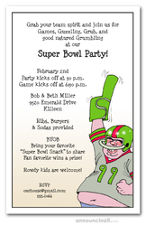 Number One Football Fan Super Bowl Invitations