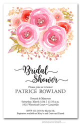 Open Roses Bridal Shower Invitations