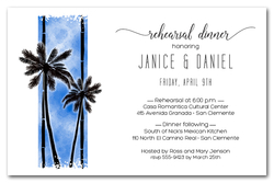 Palm Trees on Blue Party Invitations