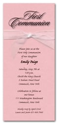 Shimmery Pink Ribboned Communion
