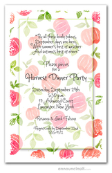 Bright Pumpkins & Leaves Invitations