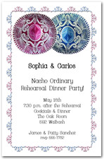 Pink and Blue Sombreros Cinco de Mayo Party Invitations