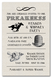 Preakness Stakes Billboard Shimmery Quartz Invitations