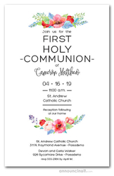 Precious Red Floral First Communion
