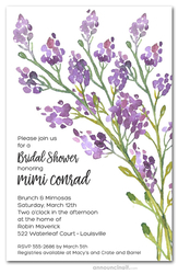 Purple Buds Bridal Shower Invitations
