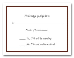 Brown Border RSVP Cards #8