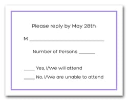 Heather Border RSVP Cards #8
