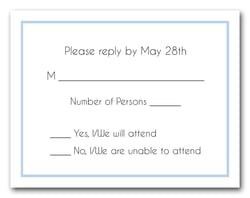 Placid Blue Border RSVP Card #8