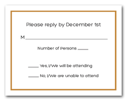 Old Gold Border RSVP Cards #8