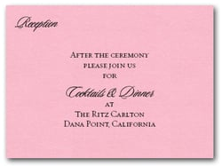 Shimmery Pink Info Cards