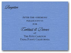 Shimmery Blue Info Cards