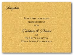 Shimmery Gold Info Cards