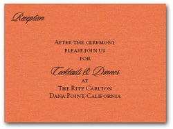 Shimmery Orange Info Cards