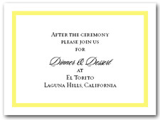 Reception Card Yellow Border #5