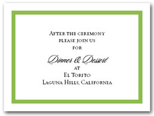 Reception Card Green Border #5