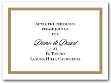 Reception Card Oatmeal Border #5