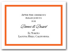 Reception Card Orange Border #5
