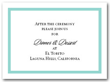 Reception Card Tiffany Blue Border #5