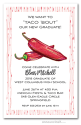 Red Hot Peppers Graduation Invitations