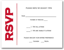 Red on White RSVP Cards #6