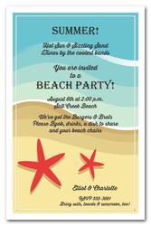 Beach Party Invitations Beach Birthday Party Invitations Beach