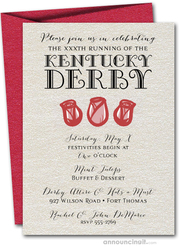 Rose Trio Kentucky Derby Invitations