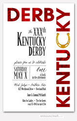 Roses and Horse Shoe Derby Invitations